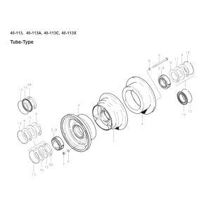 Cleveland - 40-113 - Wheel Assembly - Alt. to C163001-0104 - diagram