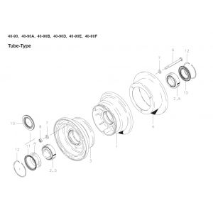 Cleveland - 40-90A - Wheel Assembly - diagram