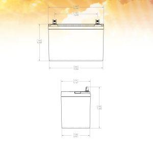Gill LT - 7035-34 - 12V - 34 Ah