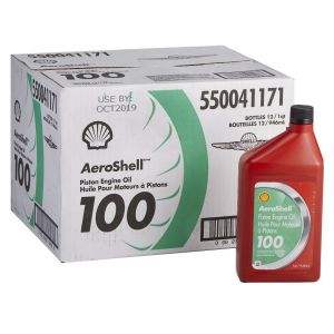 AeroShell - 100 - SAE 50 - Mineral Piston Engine Oil - 12*1 USQ