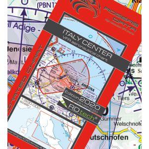 Rogers Data - Italy Center VFR Aeronautical Chart - ICAO