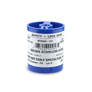 MC0320-1#D - Stainless steel Aerospace Lockwire - 1Lb. (454g) - 0.032