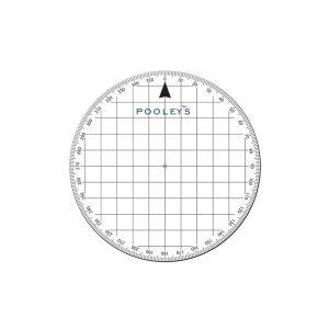 Pooleys  PP-3 Round Protractor - NPP030