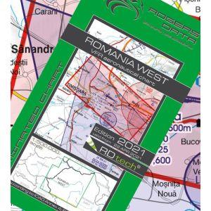 Rogers Data - Romania West VFR Aeronautical Chart - ICAO Chart