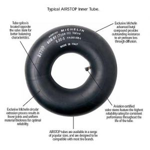 Michelin - 6.00-6 & 17.5x6.25-6 - Airstop Aircraft Inner Tube - TR-20 Straight Valve - 092-500-0