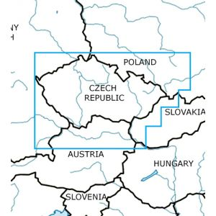 Rogers Data - Czechia VFR Aeronautical Chart – ICAO Chart