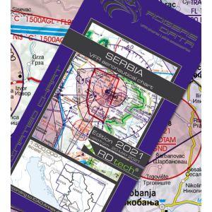 Rogers Data - Serbia VFR Aeronautical Chart - ICAO Chart