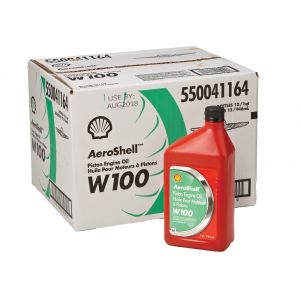 Aeroshell - W100 - SAE 50 - Piston Engine Oil - 12*1 USQ