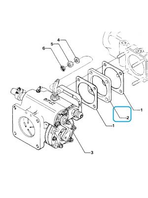 Lycoming - 73161 - Spacer-Fuel Injector - Item 2 on diagram