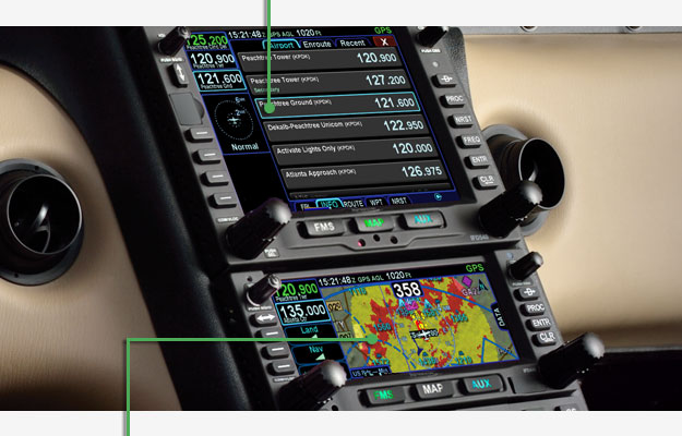 Avidyne radio tuning and Terrain awareness - FLTA