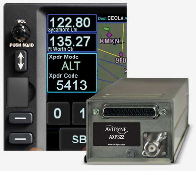 Avidyne AXP322 Remote-Mount Mode S Transponder with ADS-B Out