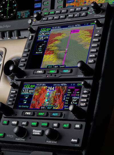 Avidyne IFD540 featuring Synthetic Vision, IFD440, AMX240, and DFC90